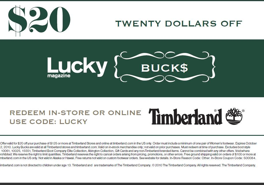 Redeeming a Timberland Promo Code. Click the cart icon at the top of the page on the right when you have selected all of the items you wish to purchase. This will take you to the checkout screen. During checkout, you will see a box labeled