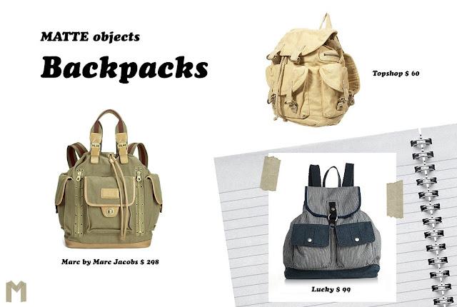 MATTE objects: Backpacks