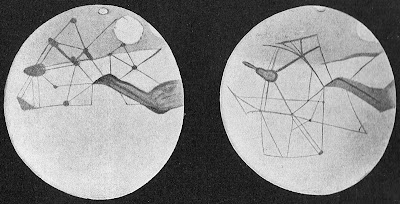 Drawings of Mars in 1894 from Percival Lowell's 'Mars' (1895)
