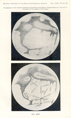Images of Mars used in experiments by Maunder and Evans. Monthly Notices of the Royal Astronomical Society 63 (1903).
