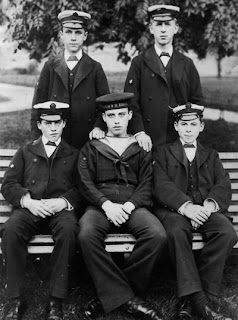 Five pupils from the Royal Hospital School, Greenwich, c.1900.