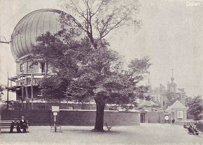The balcony of the Great Equatorial Building of the Royal Observatory, Greenwich, under construction, 1898, copyright Graham Dolan.