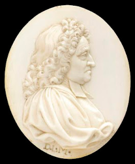H0632 Ivory medallion of Flamsteed by Le Marchand, copyright National Maritime Museum.