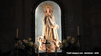 Дева Мария в католической части храма Рождества Христова в Вифлееме