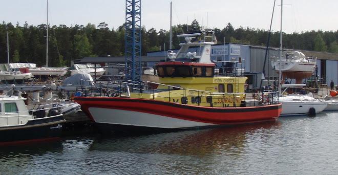 Sjöräddningen på plats dagen före Watski 2 Star Baltic