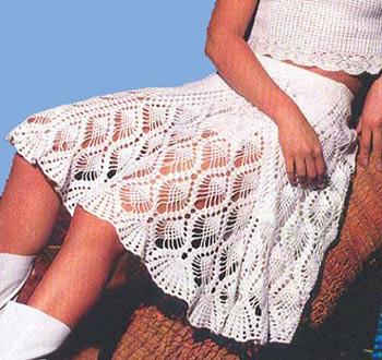 ... tejidos y mas Vestuario Mujer Faldas Largas Hermosas Faldas Tejidas A