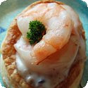 Bouches aux Crevettes (Puff Pastry Shells Filled with Shrimp and Mushrooms)