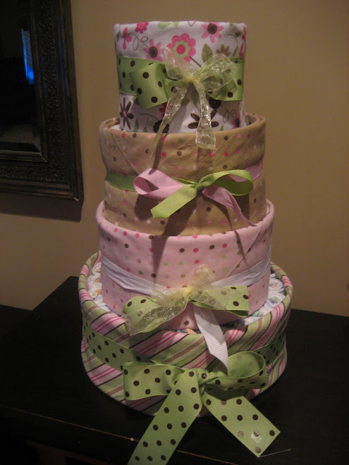1st attempt at a diaper cake