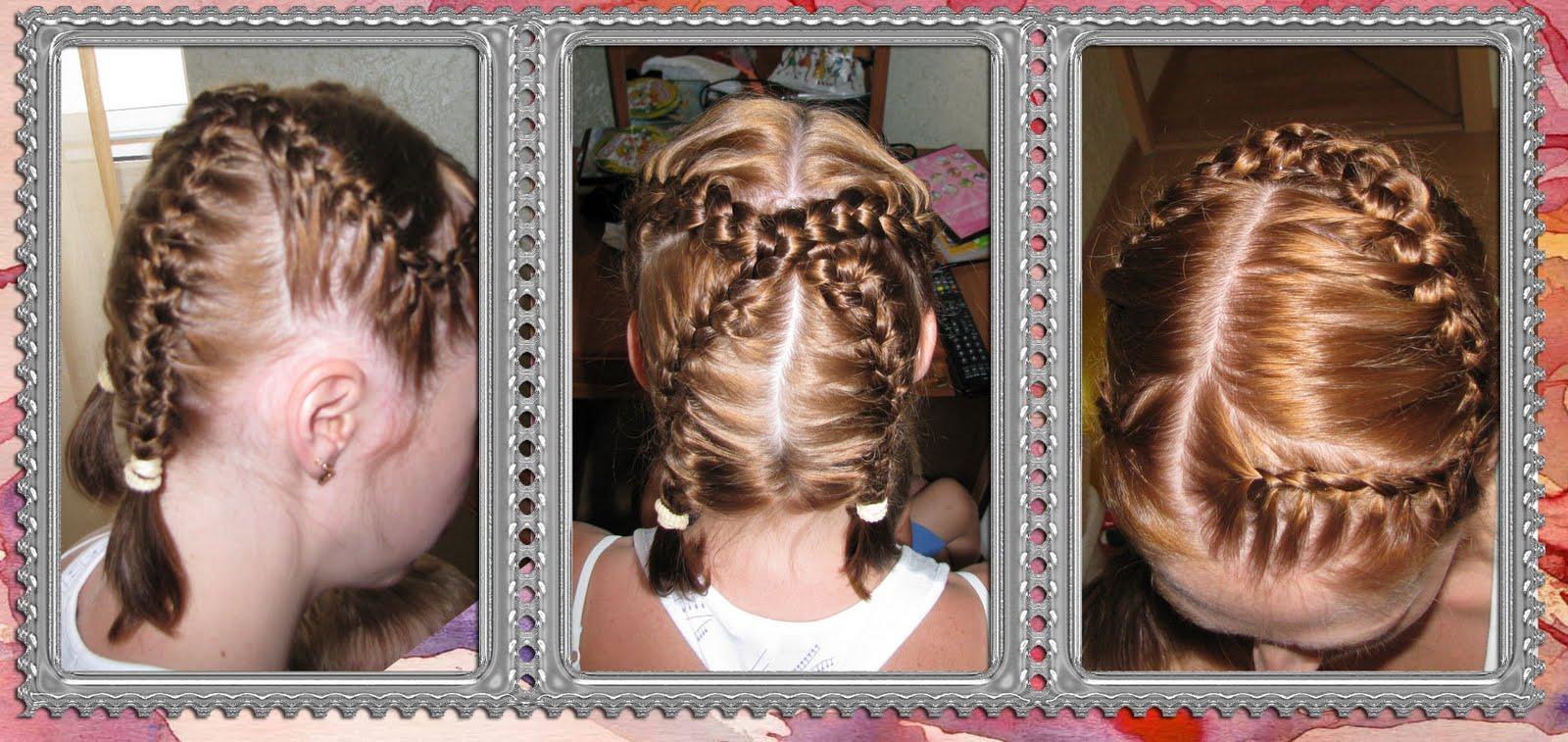 Прическа с использованием косы фото