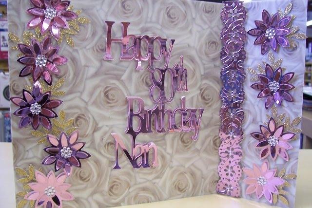 Pinnacle Crafts Happy 80th Birthday Nan