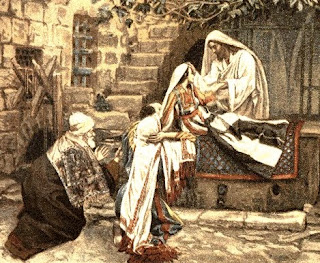 Beautiful drawing art picture of Jesus healing miracle, Jairus daughter got healed by Jesus free download Christian clip art pictures and bible coloring pages for kids