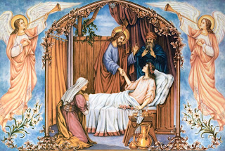 Jairus daughter healed by Jesus Christ, the miracle and angels singing hd(hq) wallpaper free download Christian pictures of Jesus and religious backgrounds