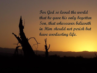 Beautiful sunset desktop background image of John 3:16 bible verse about Jesus, the son of God, the life, God's love free download Christian pictures and religious template background photos