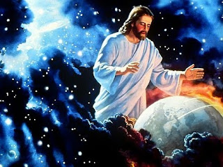 God Jesus is the lord and Christ(savior) saving the earth(world) with his hands hd(hq) wallpaper free download Christian clip arts and religious coloring pages