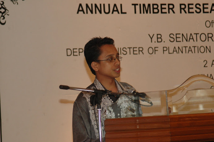 Delivering Talk at Annual Timber Research and Industry Briefing, KL (April 2009)