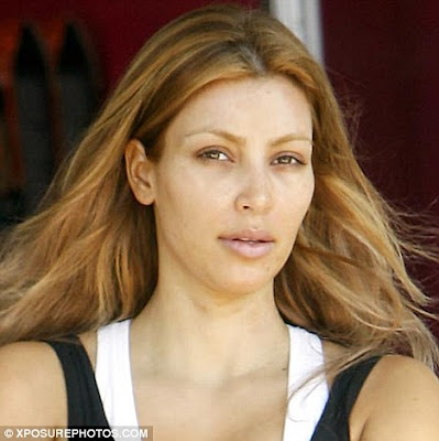 kim kardashian no makeup blonde. kim kardashian no makeup photo