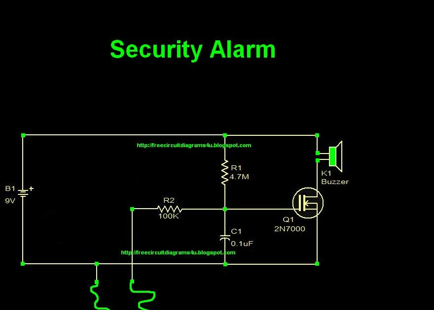 Circuit Diagram  Security Alarm