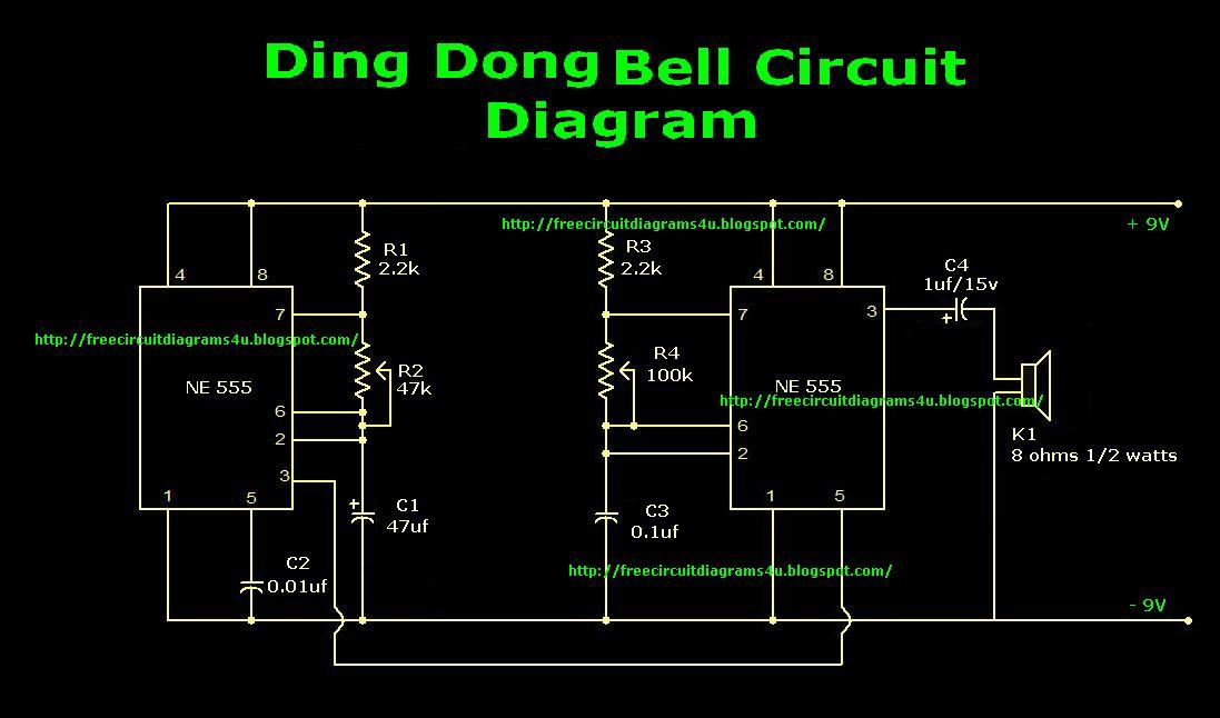 Free Circuit Diagrams 4u  Ding Dong Bell Circuit Diagram