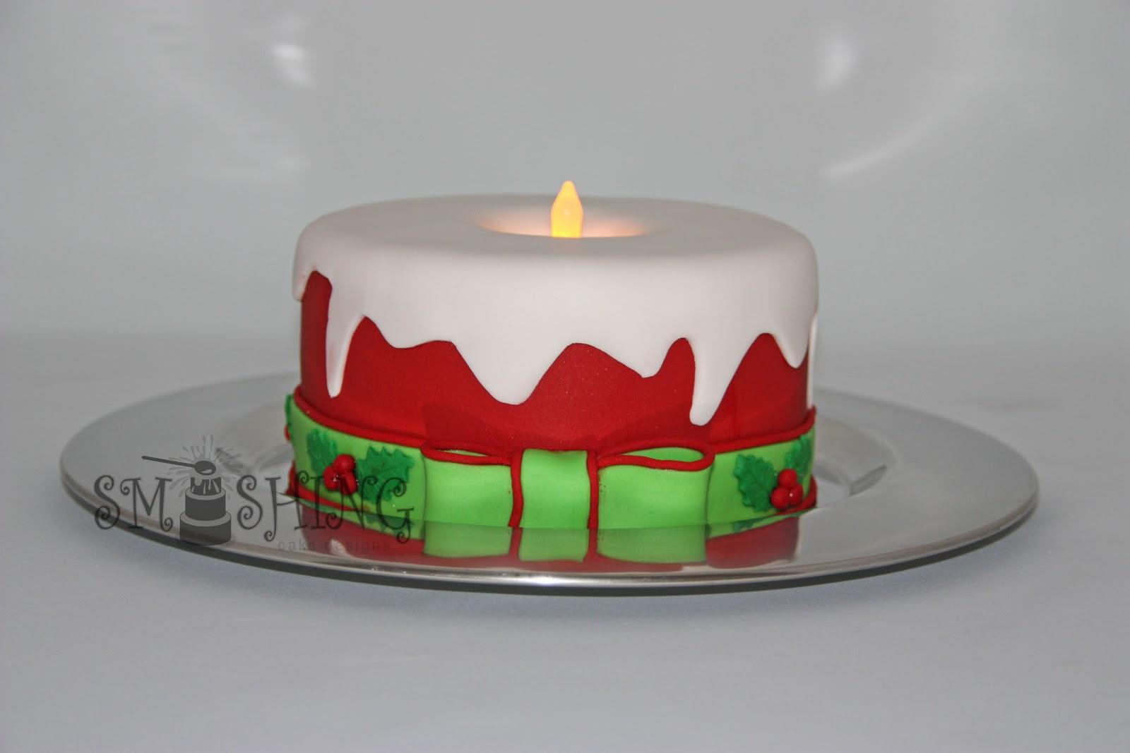 Fondant Cake Designs For Christmas : Smashing Cake Designs: Christmas Candle
