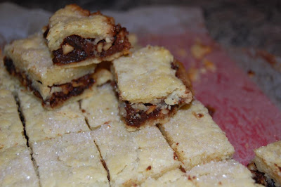 "... the traditional Rugelach ""cresent""s into Rugelach BARS, or &quo..."