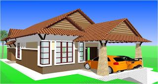 Type C : Rumah Banglo Moden 1 Tingkat 3+1 Bilik