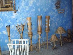 Lindas Luminárias de Bambú