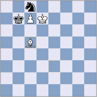 Bishop vs Knight chess ending