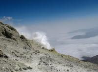 Mount Damavand Fumarole Emitting Sulphur