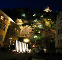Graz Schlossberg night