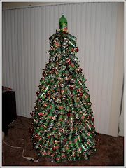 Tree of cans -- recycling at its best