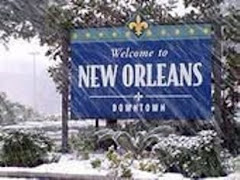 snowing in new orleans... this global warming is JUST outta control!!!