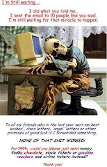 "waiting for the ""10 angels"" chain letter to work....."