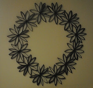 Mommys everyday life feeling crafty friday toilet paper roll this past friday my friend kim and i had a girl craft night we made this super cute wreath out of toilet paper rolls i never thought that it would turn mightylinksfo