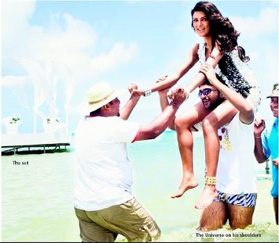 Sushmita sen Sexy Legs show on the sets of Dulha Mil Gaya