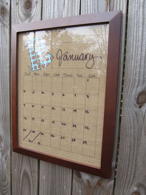 Diy Calendar Wall Art : A walk in the countryside diy dry erase calendar