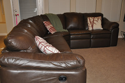 How To Get A Sweet Leather Lazy Boy Sectional For Only