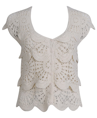 Cardigan + lace - Crochet Me