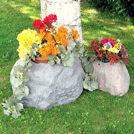Pon linda tu casa decorar con piedras los jardines - Macetas de piedra para jardin ...
