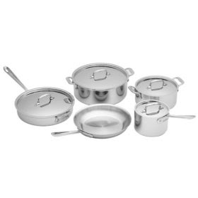 Best Pots and Pans : All-Clad Stainless 9-Piece Cookware Set