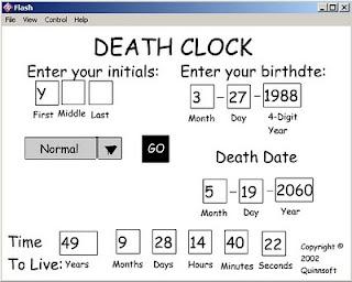 Deathclock Inilah Situs Untuk Memprediksi Waktu Kematian Anda