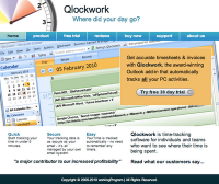 Qlockwork's search engine optimised website