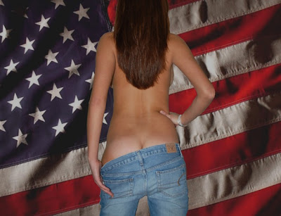 Antonella Barbra Sexy Back Flag