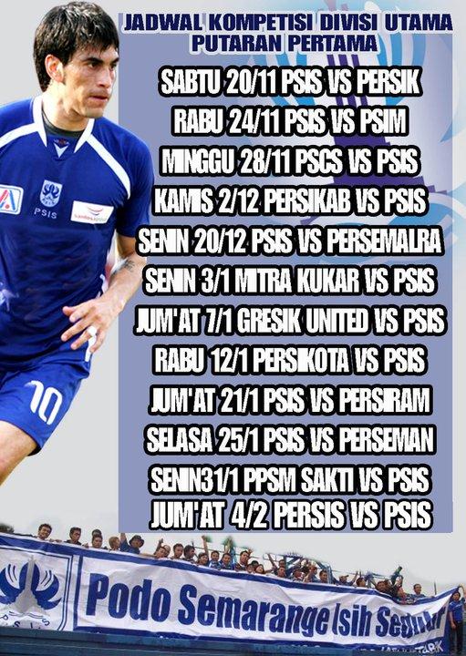... EXTREME CYBER: Jadwal PSIS Divisi Utama Liga Indonesia 2010/2011