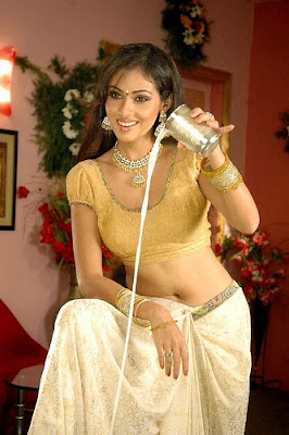 Actress Sada in Golden Blouse displaying her hotnaval