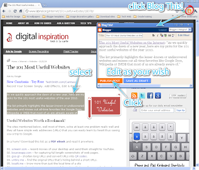 How To Use Blog This! Extension