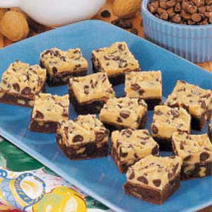 Brownie with cookie dough frosting recipe