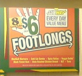 Six dollar footlong