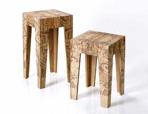 Yakuza - tattoo furniture. Yakuza é uma coleção de móveis do Reddish studio,