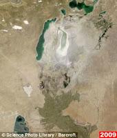 foto danau laut aral kering 2009