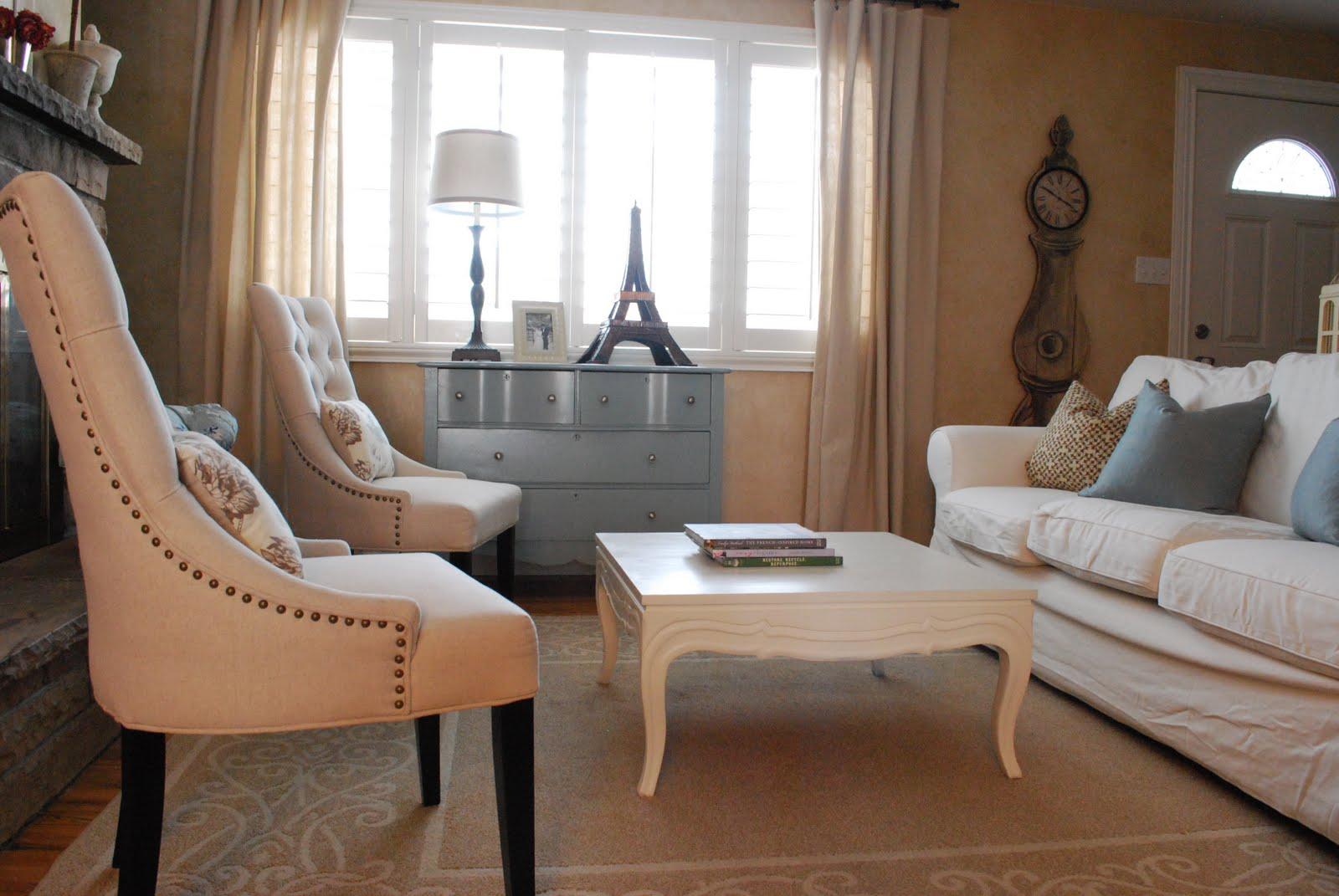 White Living Room Designs The Shabby Nest January 2011